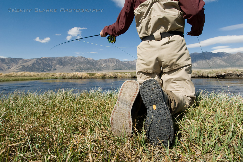 Kenny clarke inspired photography artwork and writing for Fly fishing wading boots