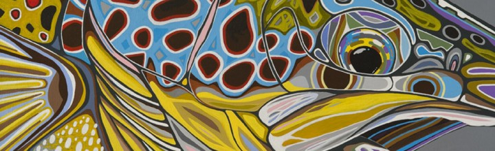 """BROWN TROUT PAINTING """"BROWN ON GRAY"""" ADDED TO GALLERY"""